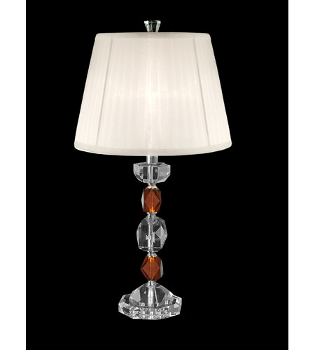 Dale Tiffany Crystal Colored Table Lamp 1 Light in Brushed Nickel GT80240 photo