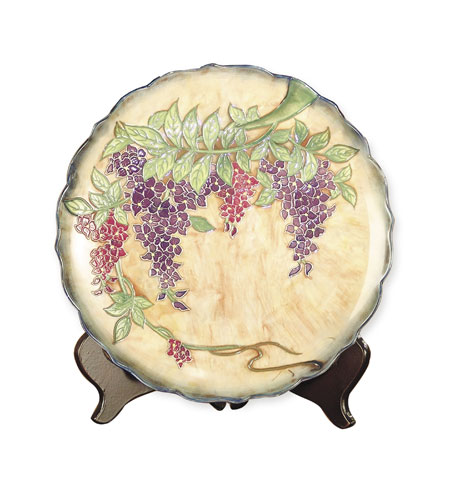 Dale Tiffany Wisteria Porcelain Charger PA500209 photo