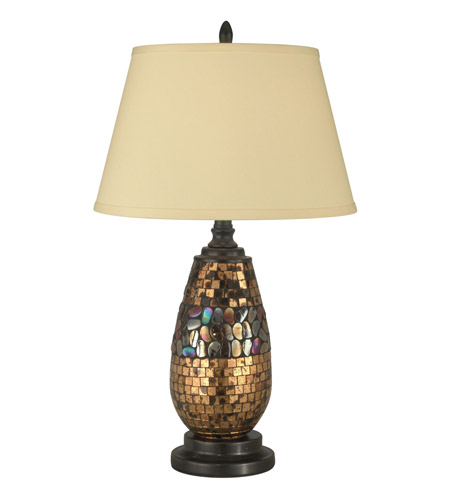 Dale Tiffany Antique Gold Mosaic Table Lamp 1 Light in Dark Antique Bronze PG10362 photo