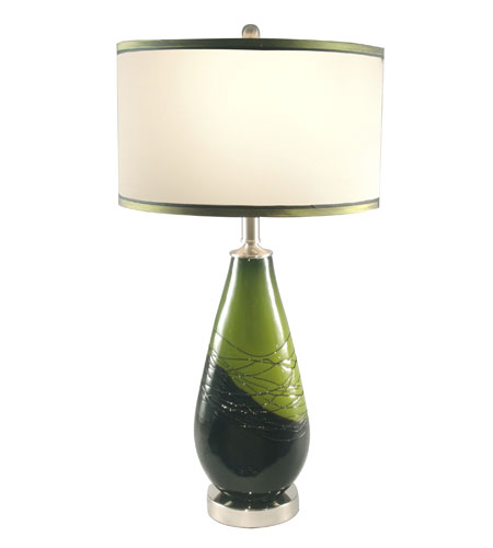 Dale Tiffany Vineyard Green Table Lamp 1 Light in Brushed Nickel PG70363 photo