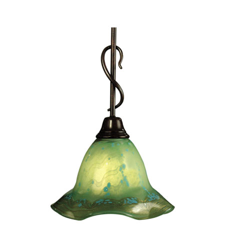Dale Tiffany Serene 1 Light Mini Pendant in Antique Bronze