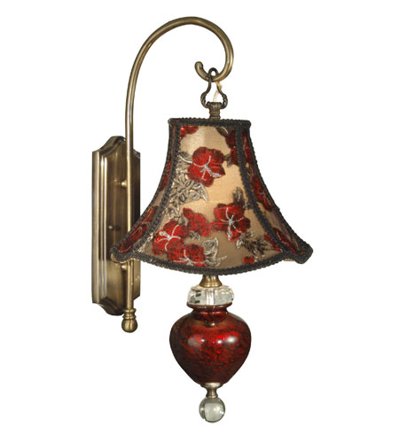Tiffany Wall Sconce With Switch : Dale Tiffany Alton 1 Light Wall Sconce in Antique Brass PG90071
