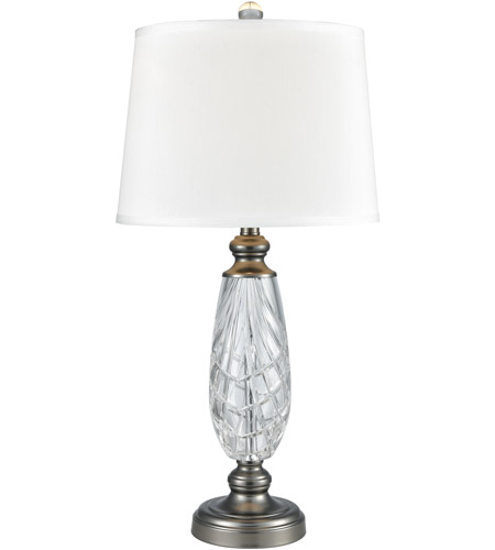 Dale Tiffany Sgt17161 Clearview 29 Inch 150 Watt Antique Nickel Table Lamp Portable Light