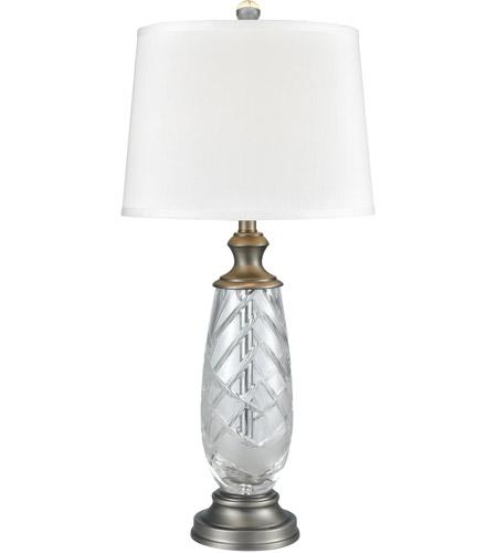 Dale Tiffany Sgt17164 Lake Butler 30 Inch 150 Watt Antique Nickel Table Lamp Portable Light