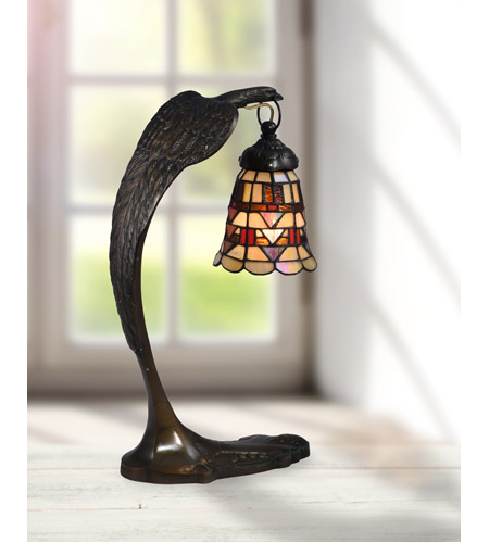 Dale Tiffany STA17001 Falcon Bronze 18 inch 40 watt Antique Brass Accent Lamp Portable Light STA17001_2.jpg