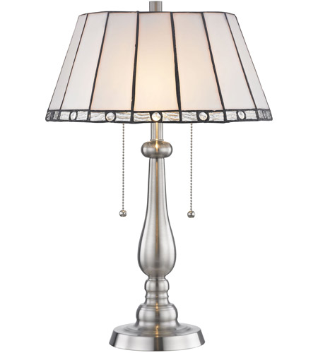 Dale Tiffany STT17025 Adrianna 22 Inch 75 Watt Brushed Nickel Table Lamp  Portable Light Photo