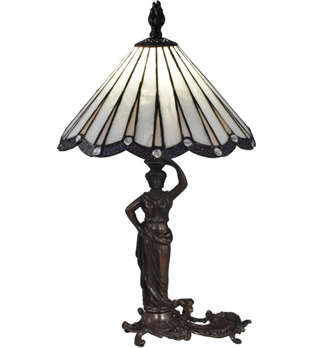 Dale Tiffany STT17057 Akira Lady 20 inch 60 watt Antique Bronze Table Lamp Portable Light