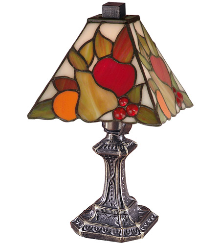 Dale Tiffany Fruit Mini Table Lamp 1 Light in Antique Brass TA100122 photo