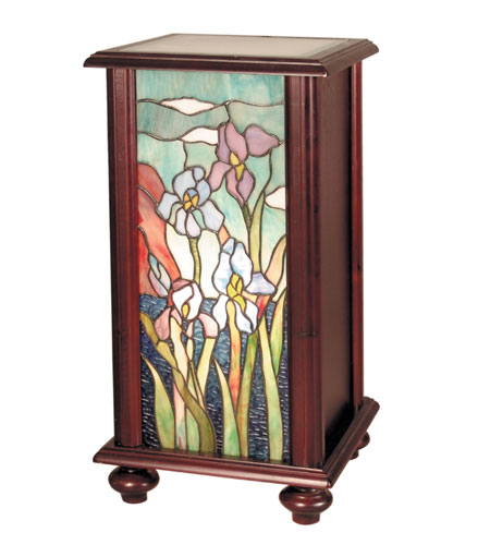 Dale Tiffany Iris Tiffany Pedestal 1 Light in Cherry TA101346 photo