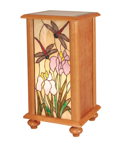Dale Tiffany TA101347 Dragonfly 12 X 12 inch Oak Pedestal Home Decor photo