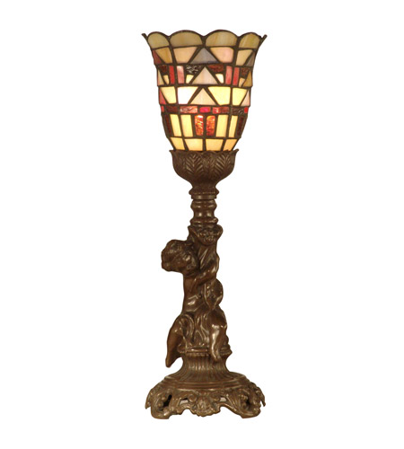 Dale Tiffany Tiffany Misson Style Accent Lamp 1 Light in Antique Bronze Paint TA10601 photo