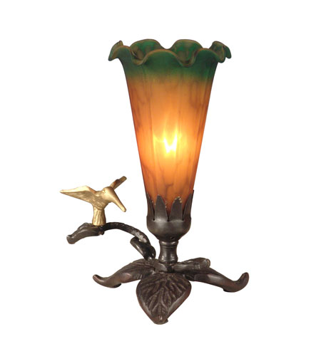 Dale Tiffany Tiffany Lily Accent Lamp 1 Light in Antique Bronze Paint TA10804 photo