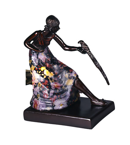 Dale Tiffany Woman With Bird Accent Lamp 1 Light in Antique Bronze Plating TA10875 photo