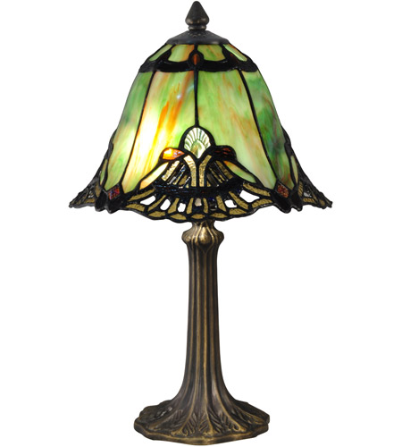Dale Tiffany TA15057 Evelyn 16 inch 60.00 watt Antique Brass Table Lamp Portable Light photo
