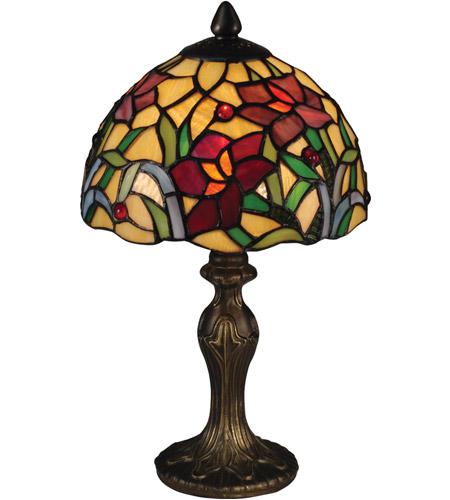Dale Tiffany Ta15087 Teller 14 Inch 60 Watt Antique Brass Table Lamp