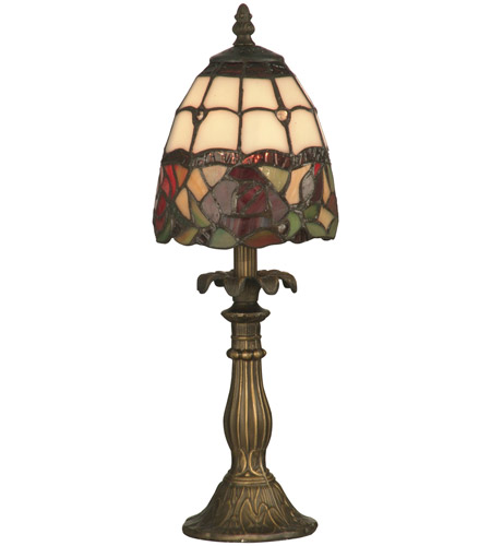 Dale Tiffany TA70711 Enid 16 inch 25 watt Antique Brass Accent Lamp Portable Light photo