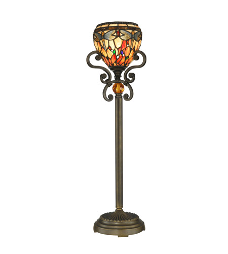 Dale Tiffany TB10098 Dragonfly 29 inch 60 watt Antique Golden Sand Buffet Lamp Portable Light photo