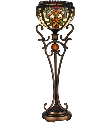 Dale Tiffany Boehme 1 Light Buffet Lamp in Antique Golden Sand TB101113 photo