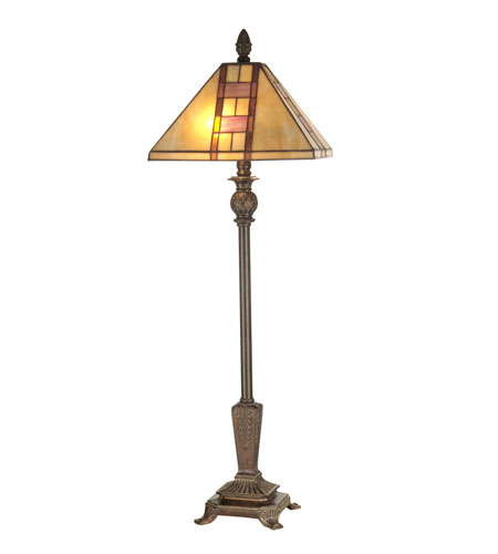 Dale Tiffany Mission Buffet Table Lamp 2 Light in Fieldstone TB11013 photo