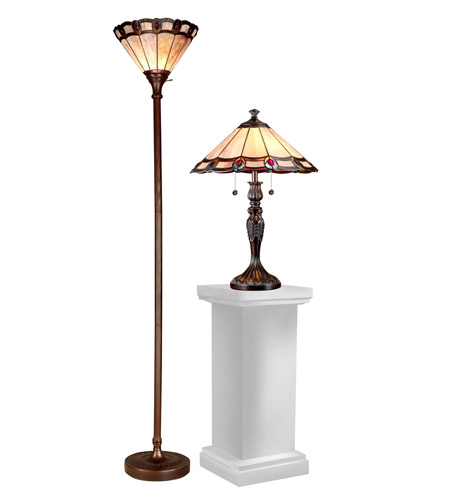 Dale tiffany tc15045 peacock 21 inch 100 watt dark antique for 100 watt table lamps