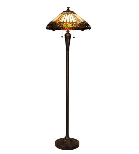 Dale Tiffany Marakesh Floor Lamp 2 Light in Mica Bronze TF100047 photo