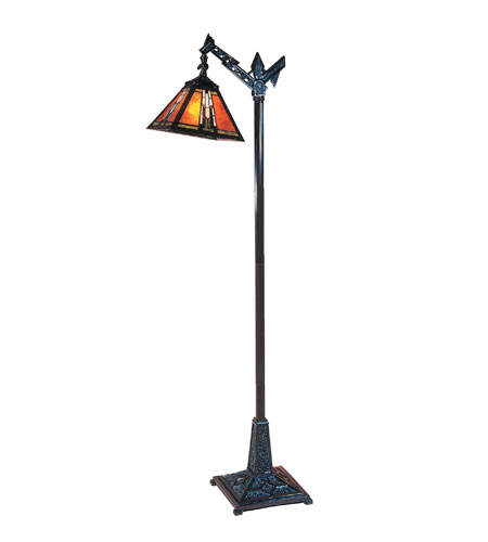 Dale Tiffany Amber Monarch Downbridge Floor Lamp 1 Light in Mica Bronze TF100073 photo