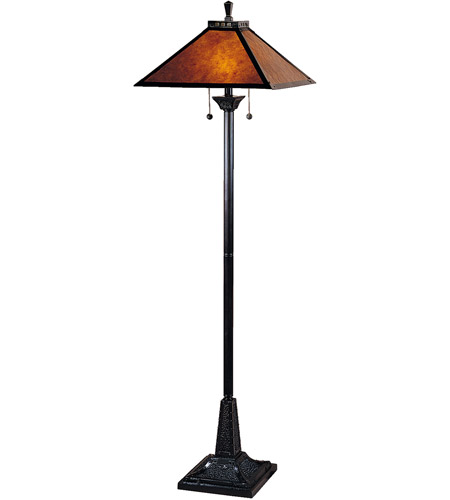 Dale Tiffany Mica Camelot Floor Lamp 2 Light In Mica Bronze Tf100176