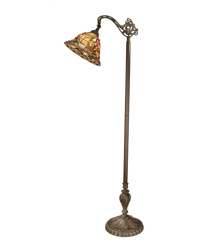 Dale Tiffany Bochner Downbridge Floor Lamp 1 Light in Antique Brass Plating TF50181 photo