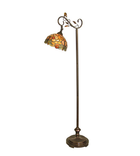 Dale Tiffany Dragonfly Agate 1 Light Floor Lamp in Antique Golden Sand TF90241 photo