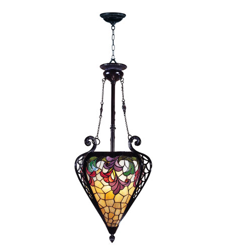 Dale Tiffany Jacqueline Foyer Fixture 3 Light in Mica Bronze TH100578 photo