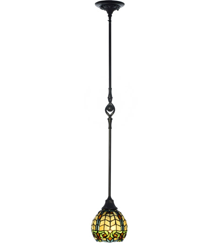 Dale Tiffany TH100876 Raphael 1 Light 6 inch Antique Golden Sand Mini Pendant Ceiling Light photo