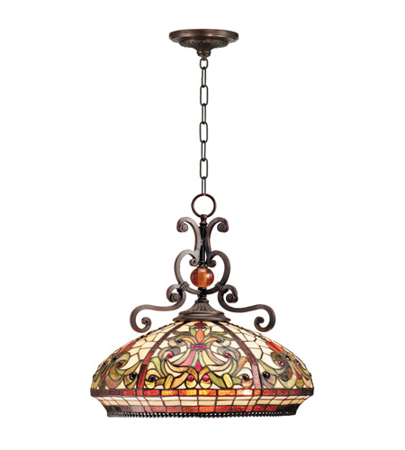 Dale Tiffany TH101034 Boehme 3 Light 18 inch Antique Golden Sand Pendant Ceiling Light photo