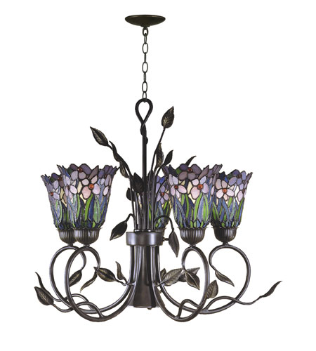 Dale Tiffany Meadowbrook 5 Light Hanging Fixture in Antique Bronze TH101051 photo