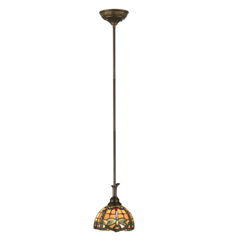 Dale Tiffany TH11203 Jeweled 1 Light 8 inch Antique Bronze Paint Mini Pendant Ceiling Light photo