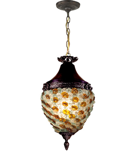 Antique Tiffany Hanging Lamp Value: Dale Tiffany Signature 1 Light Pendant In Antique Bronze
