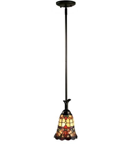 Dale Tiffany Th70101 Evelyn 1 Light 7 Inch Mica Black Mini Pendant Ceiling Light