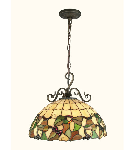 Antique Tiffany Hanging Lamp Value: Dale Tiffany Tiffany Grape Hanging Fixture 1 Light In