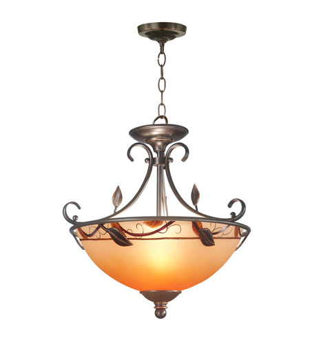 Dale Tiffany Garden Leaf Semi Flush Mount 2 Light in Antique Bronze Plating TH70544 photo