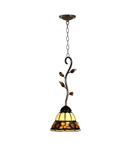 Dale Tiffany TH90229 Pebblestone 1 Light 7 inch Antique Golden Sand Mini Pendant Ceiling Light photo