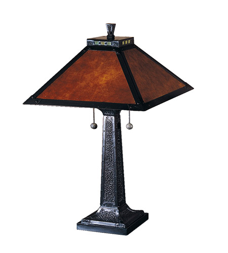 Dale Tiffany Mica Camelot Table Lamp 2 Light in Mica Bronze TT100174 photo