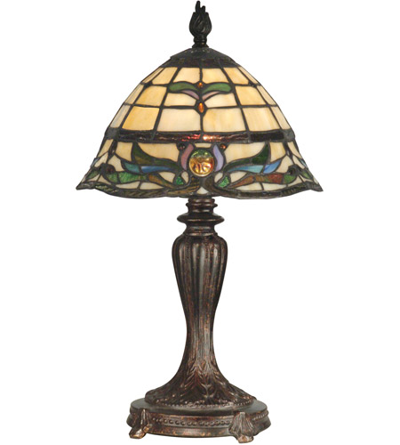 Dale Tiffany TT10087 Tiffany 19 inch 60 watt Fieldstone Table Lamp Portable Light photo