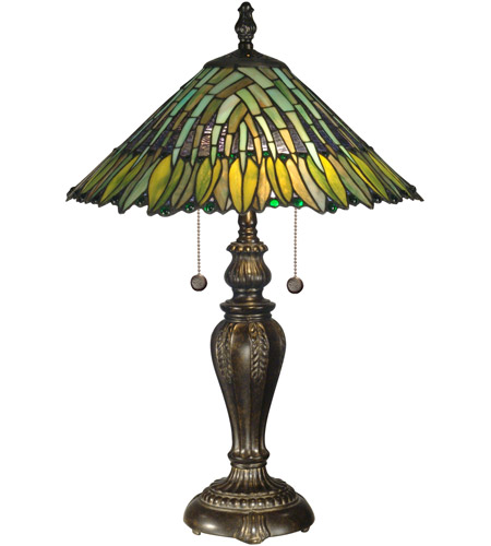 Dale Tiffany TT100914 Leavesley 26 inch 60 watt Fieldstone Table Lamp Portable Light photo
