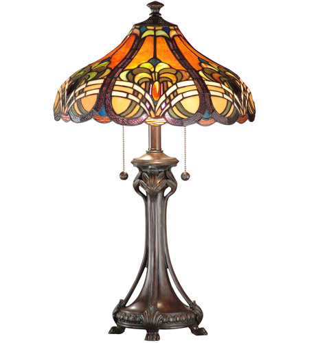 Dale Tiffany Bellas Table Lamp 2 Light in Weather Ford TT101033 photo