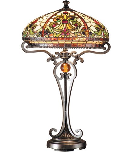 Dale Tiffany TT101114 Boehme 28 inch 60 watt Antique Golden Sand Table Lamp Portable Light photo