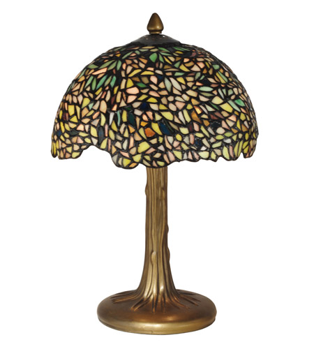 Dale tiffany wisteria tiffany table lamp 2 light in antique bronze dale tiffany tt10335 wisteria 17 inch 40 watt antique bronzeverde table lamp portable light mozeypictures Image collections