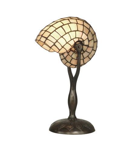 Dale Tiffany TT10346 Nautilius Snail 18 inch 60 watt Antique Verde Table Lamp Portable Light photo