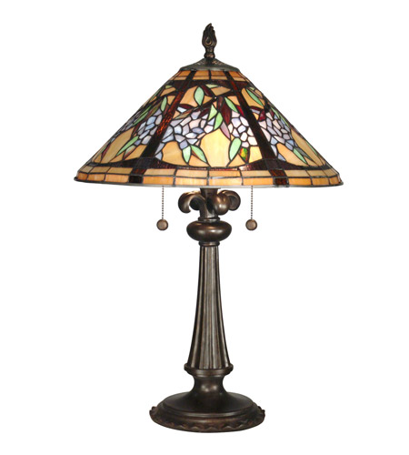 Tiffany Bronze Metal Table Lamps