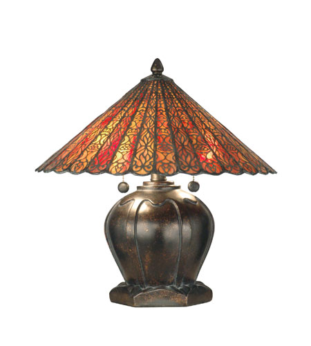 Dale Tiffany Tiffany Filigree Table Lamp 2 Light in Fieldstone TT10759 photo