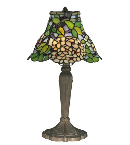Dale Tiffany Trevor Tiffany Table Lamp 1 Light in Antique Brass TT12061 photo