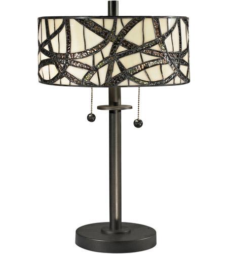 Dale Tiffany Tt12412 Willow 20 Inch 60 Watt Dark Bronze Table Lamp